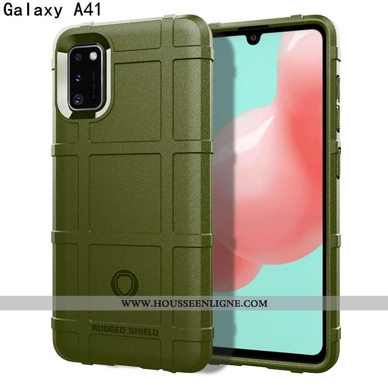 Étui Samsung Galaxy A41 Protection Luxe Personnalité Téléphone Portable Magnétisme Trois Défenses Co