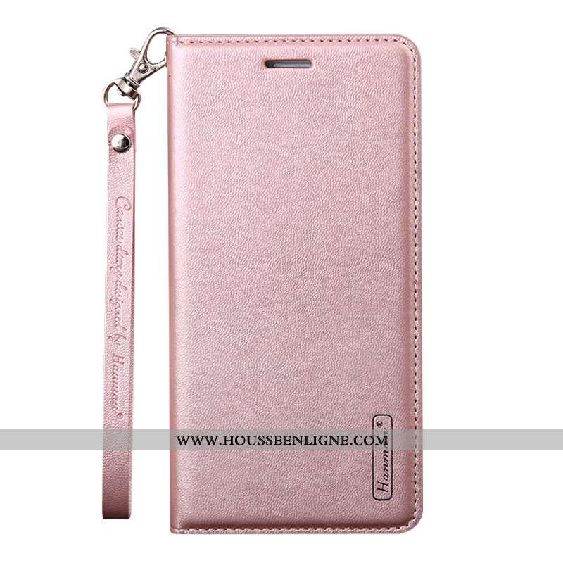 Étui Samsung Galaxy A50 Cuir Ornements Suspendus Sac Carte Téléphone Portable Coque Business Rose