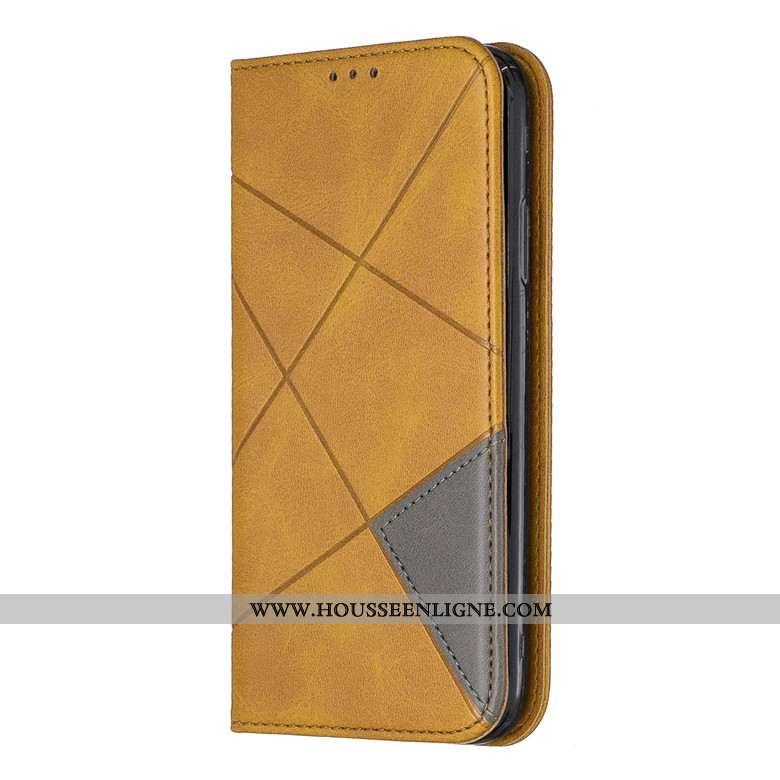 Étui Samsung Galaxy A51 Cuir Fluide Doux Téléphone Portable Protection Jaune Coque Étoile