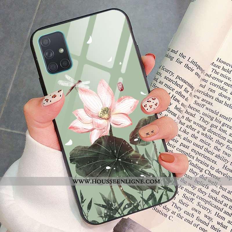 Étui Samsung Galaxy A51 Mode Protection Art Vent Téléphone Portable Étoile Verte