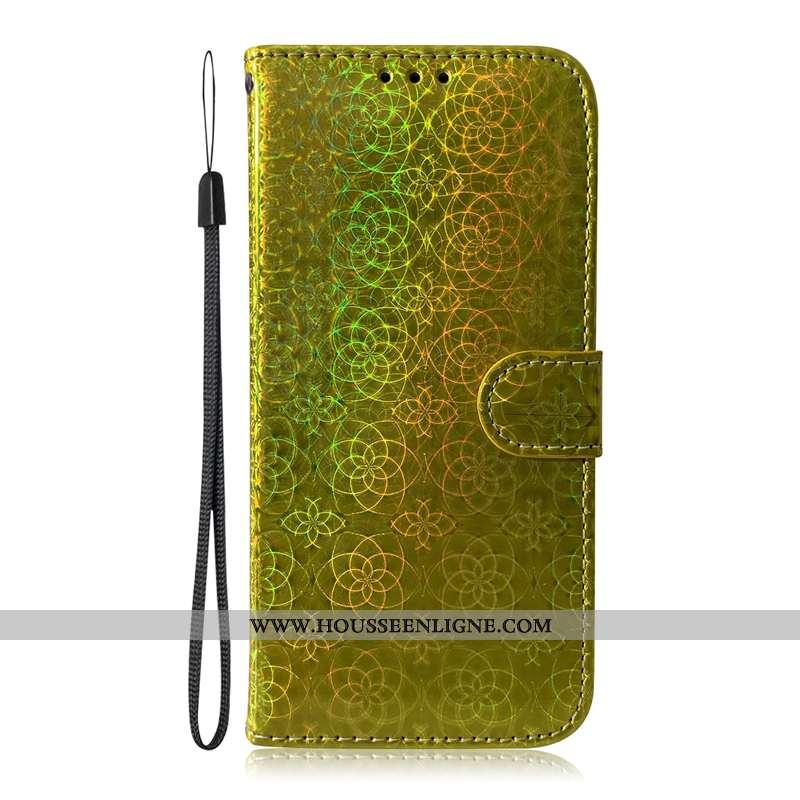 Étui Samsung Galaxy A51 Protection Cuir Carte Incassable Or Coque Étoile Doré