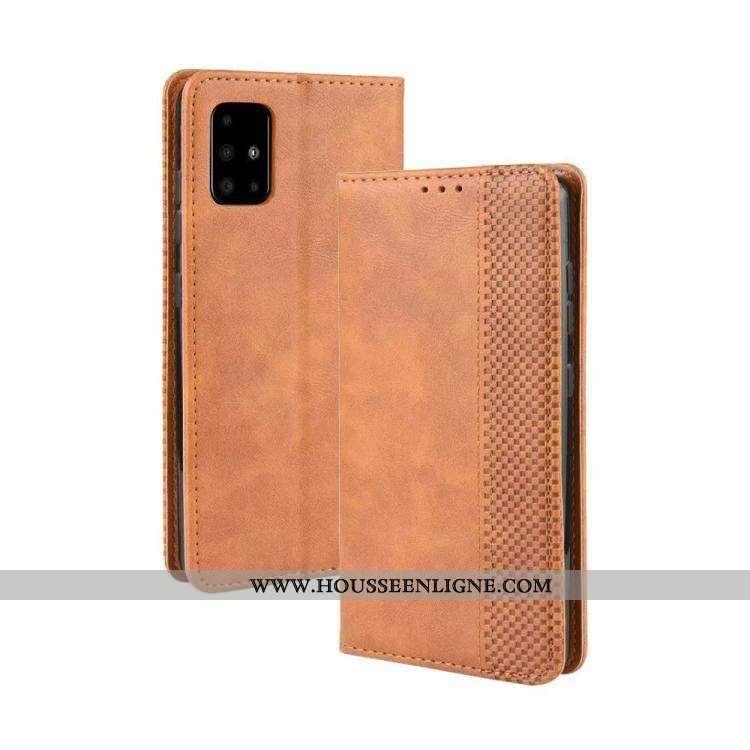 Étui Samsung Galaxy A51 Protection Cuir Coque Silicone Housse Kaki Khaki