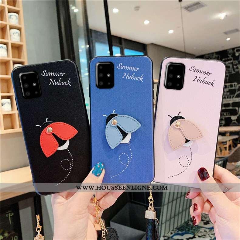 Étui Samsung Galaxy A51 Protection Fluide Doux Coque Téléphone Portable Mode Étoile Bleu
