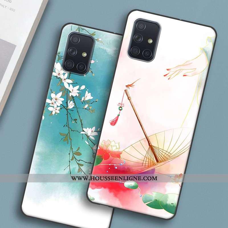 Étui Samsung Galaxy A51 Silicone Protection Rose Coque Étoile Style Chinois