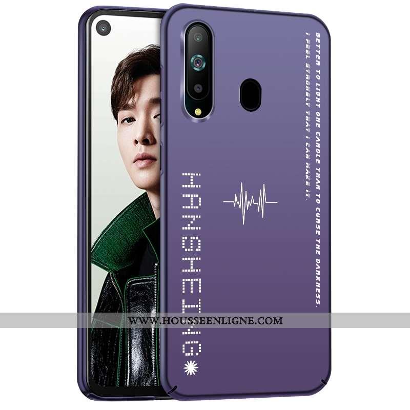 Étui Samsung Galaxy A60 Délavé En Daim Personnalité Étoile Violet Coque Silicone