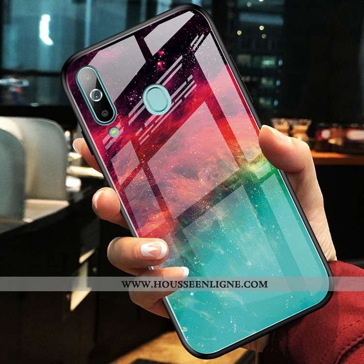 Étui Samsung Galaxy A60 Ornements Suspendus Personnalité Étoile Support Coque Verre Rouge