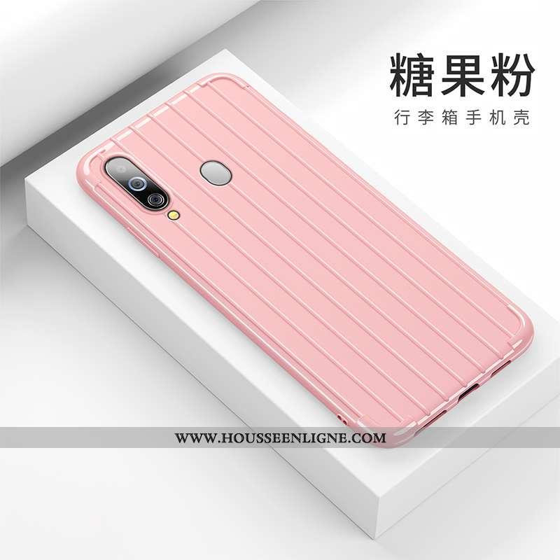 Étui Samsung Galaxy A60 Personnalité Créatif Dragon Fluide Doux Étoile Incassable Silicone Rose