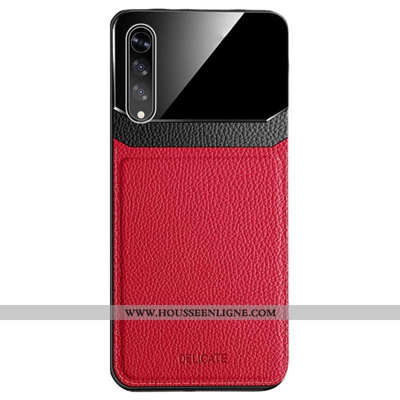 Étui Samsung Galaxy A70 Créatif Cuir Téléphone Portable Étoile Simple Modèle Fleurie Rouge