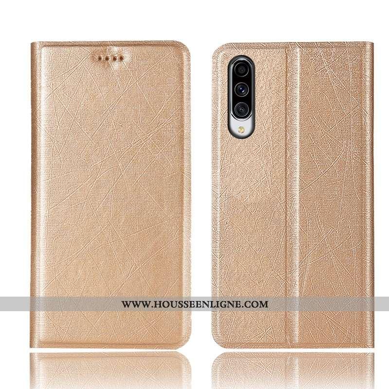 Étui Samsung Galaxy A70 Cuir Modèle Fleurie Étoile Or Coque Tout Compris Téléphone Portable Doré