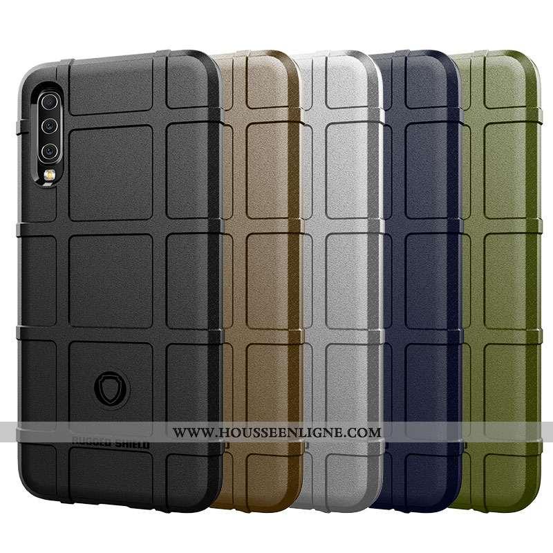 Étui Samsung Galaxy A70 Délavé En Daim Personnalité Tendance Créatif Tout Compris Luxe Silicone Noir