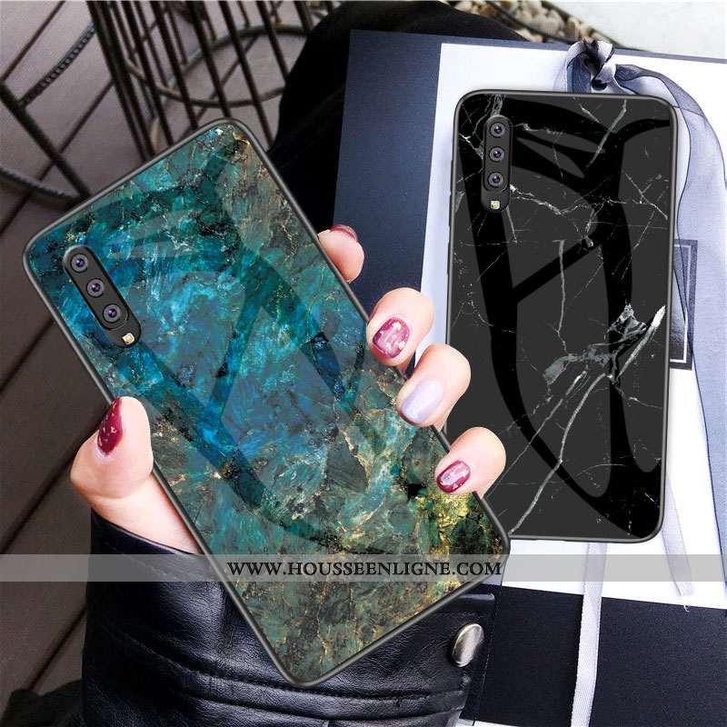 Étui Samsung Galaxy A70 Fluide Doux Protection Net Rouge Coque Verre Incassable Tout Compris Bleu