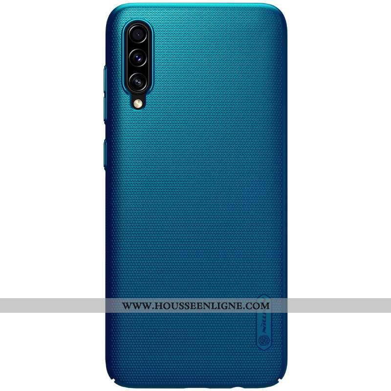 Étui Samsung Galaxy A70 Légère Protection Délavé En Daim Or Légères Téléphone Portable Bleu