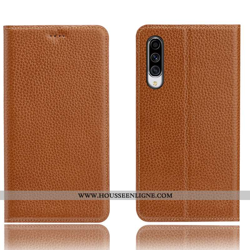 Étui Samsung Galaxy A70 Modèle Fleurie Protection Téléphone Portable Litchi Incassable Cuir Véritabl