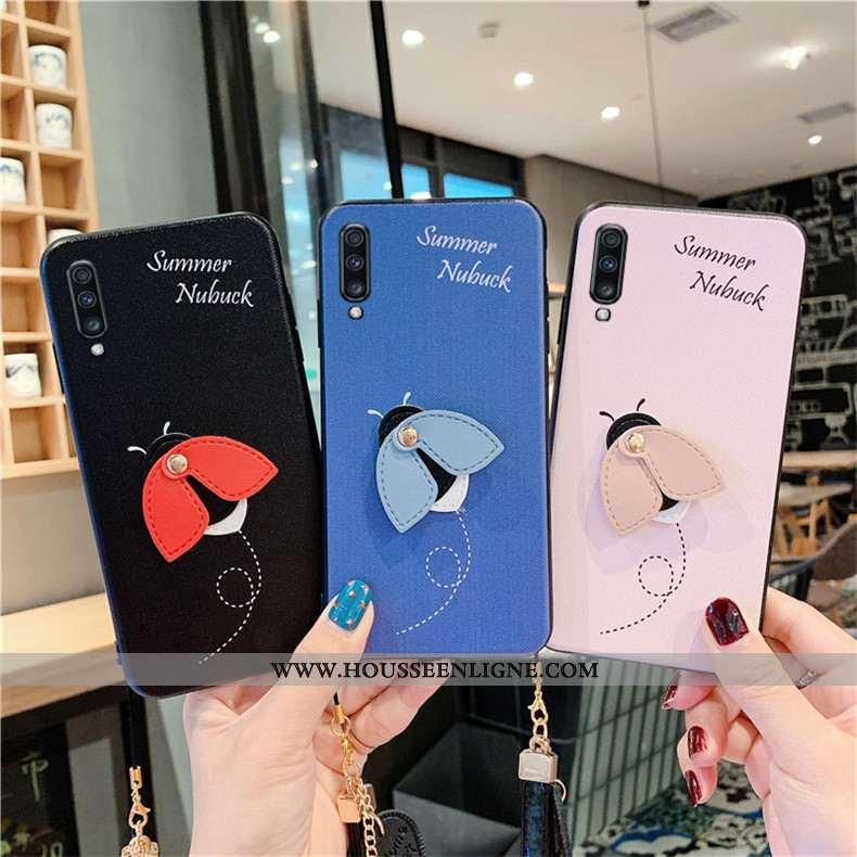Étui Samsung Galaxy A70 Personnalité Créatif Étoile Téléphone Portable Coque Tendance Bleu