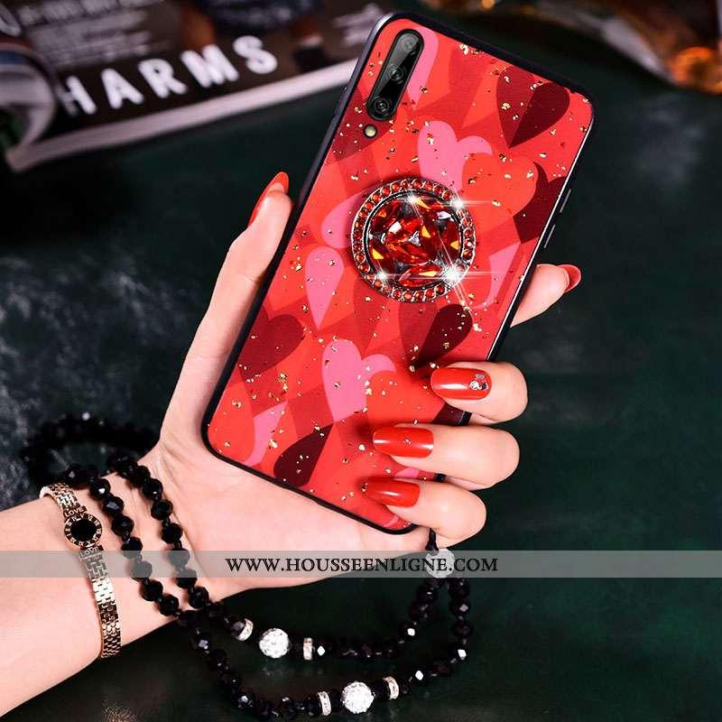 Étui Samsung Galaxy A70s Personnalité Charmant Silicone Incassable Net Rouge Étoile Coque