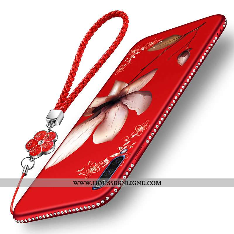 Étui Samsung Galaxy A70s Silicone Mode Coque Protection Rouge Étoile Fleur