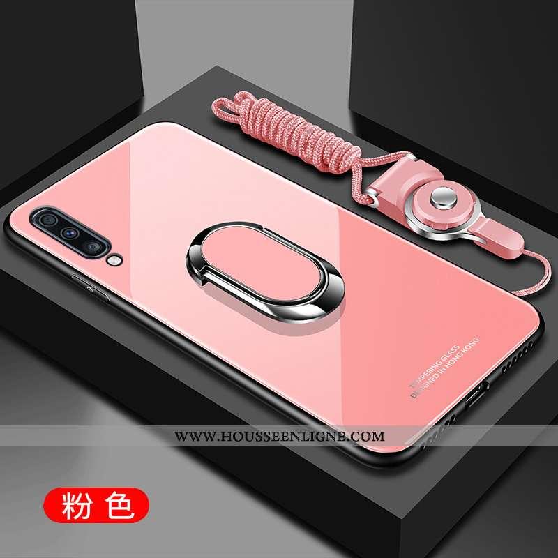 Étui Samsung Galaxy A70s Verre Créatif Protection Miroir Incassable Téléphone Portable Rose