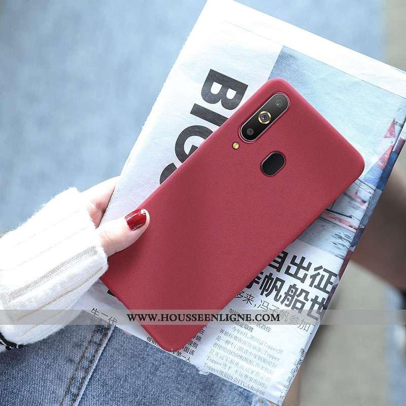 Étui Samsung Galaxy A8s Créatif Tendance Incassable Protection Téléphone Portable Rouge