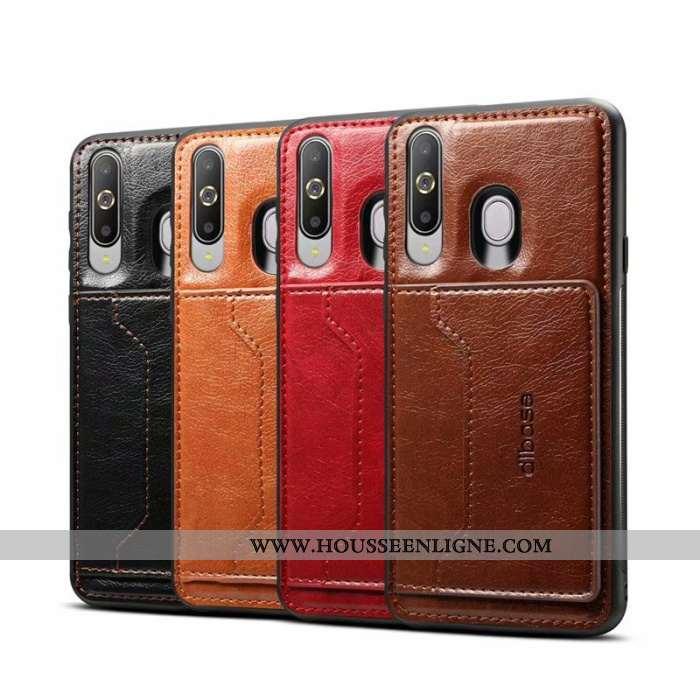 Étui Samsung Galaxy A8s Personnalité Protection Étoile Simple Téléphone Portable Coque Marron