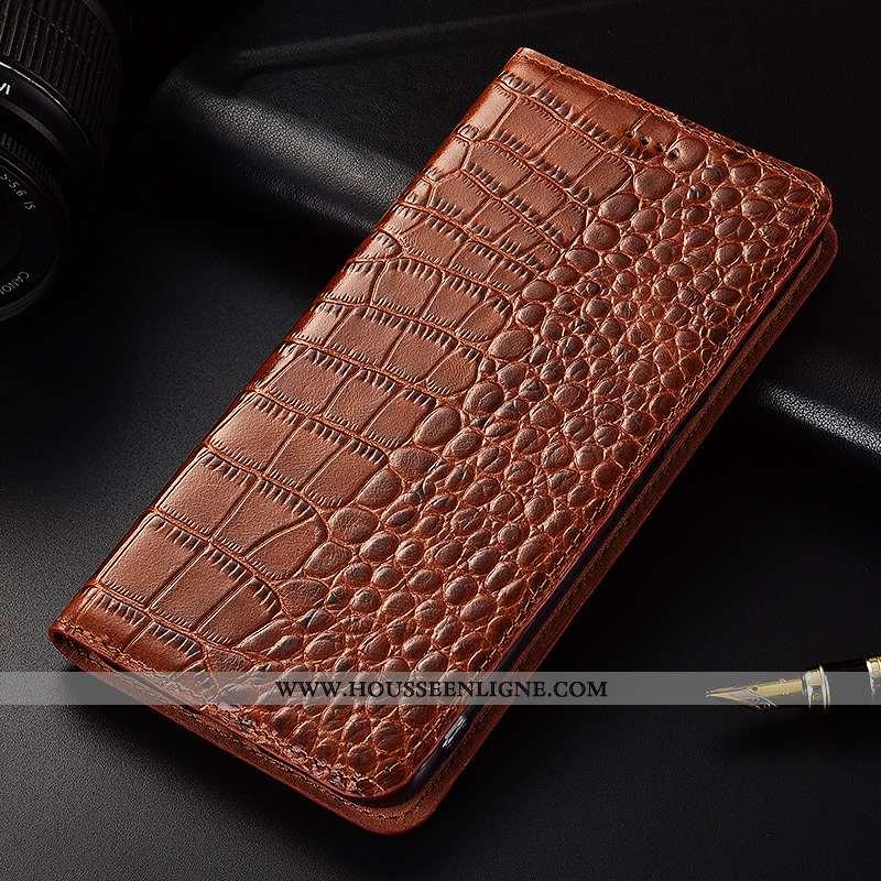 Étui Samsung Galaxy A8s Protection Cuir Véritable Cuir Silicone Crocodile Incassable Tout Compris Ma