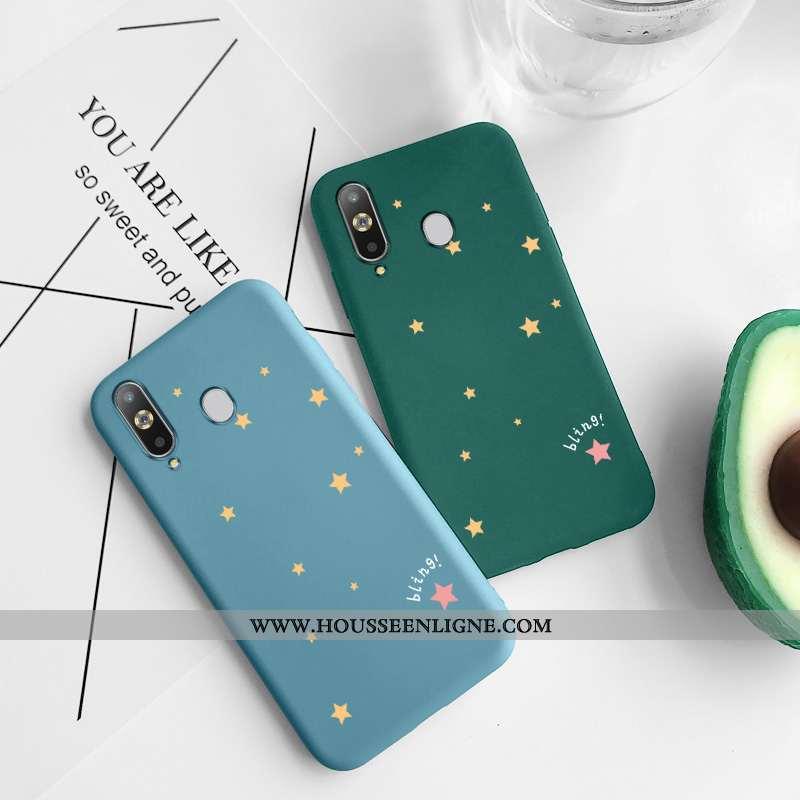 Étui Samsung Galaxy A8s Protection Tendance Étoile Silicone Vert Tout Compris Net Rouge Verte