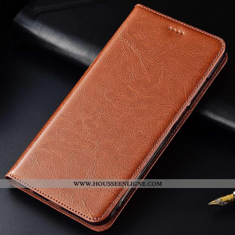 Étui Samsung Galaxy A8s Silicone Protection Coque Cuir Véritable Cuir Nouveau Tout Compris Marron