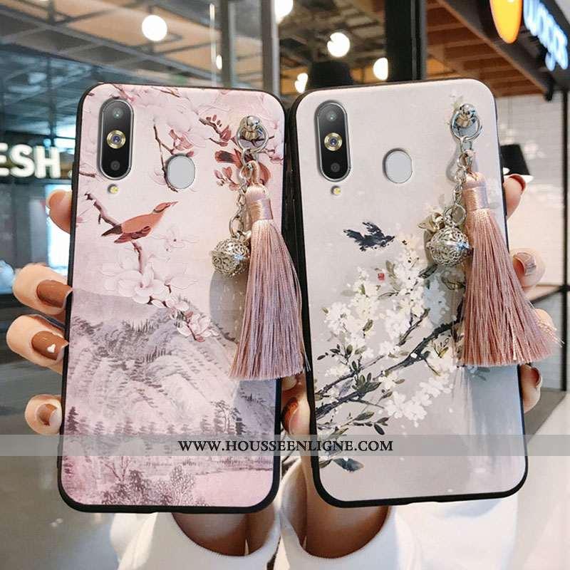 Étui Samsung Galaxy A8s Silicone Protection Net Rouge Vent Étoile À Franges Créatif Rose
