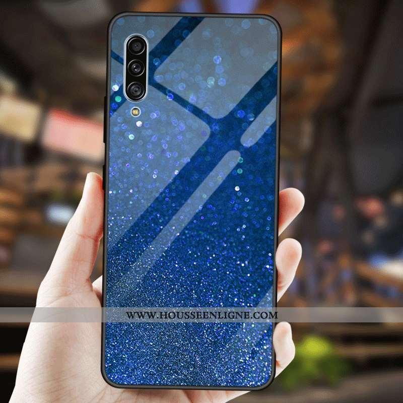 Étui Samsung Galaxy A90 5g Créatif Fluide Doux Mode Protection Couleur Unie Étoile Bleu