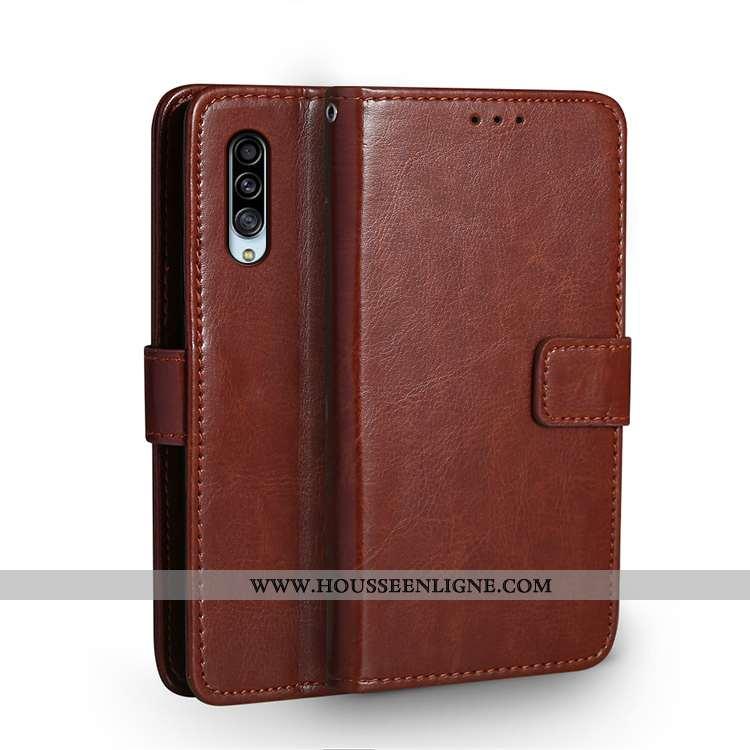 Étui Samsung Galaxy A90 5g Cuir Fluide Doux Créatif Tendance Téléphone Portable Personnalité Marron