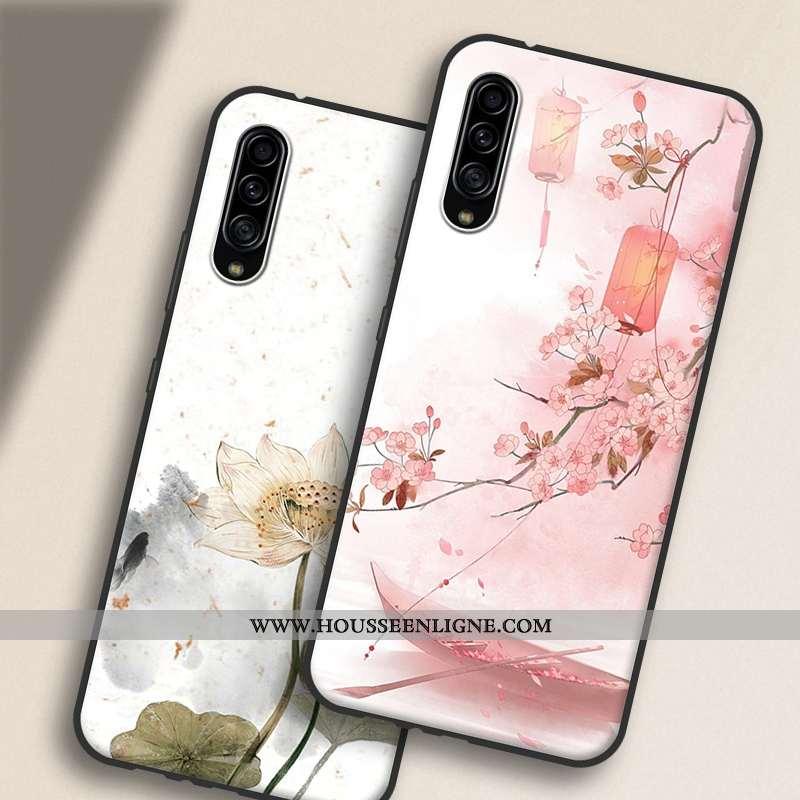 Étui Samsung Galaxy A90 5g Silicone Protection Coque Rose Étoile Style Chinois Personnalité