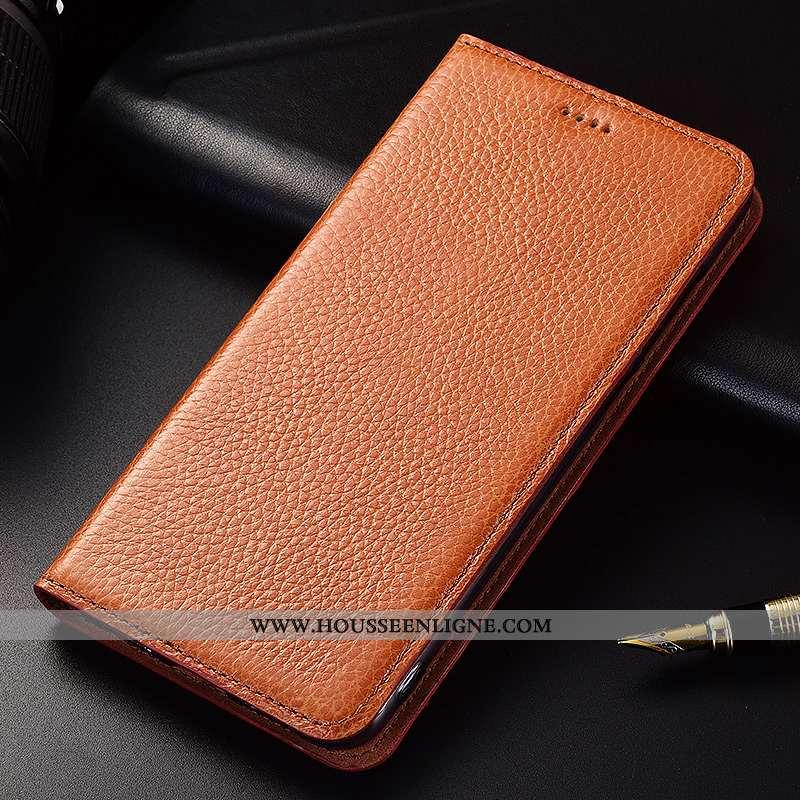 Étui Samsung Galaxy A90 5g Silicone Protection Litchi Clamshell Cuir Véritable Kaki Khaki