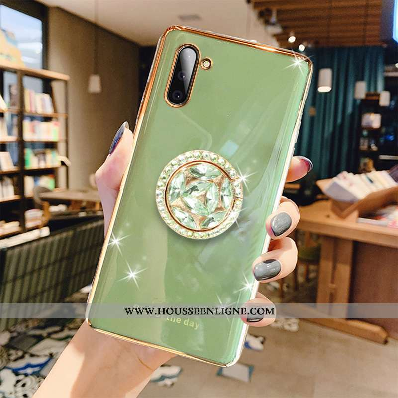 Étui Samsung Galaxy Note 10 Créatif Tendance Luxe Net Rouge Placage Téléphone Portable Vert Verte
