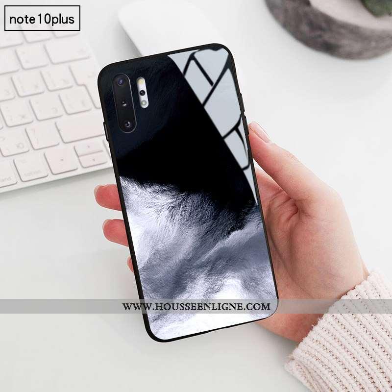 Étui Samsung Galaxy Note 10+ Créatif Verre Personnalité Étoile Coque Noir Difficile