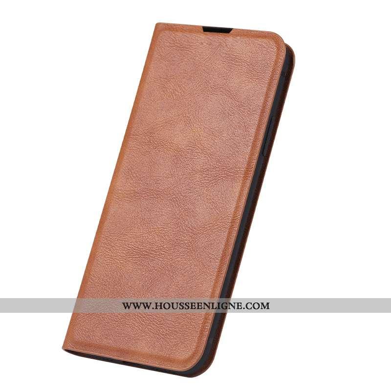 Étui Samsung Galaxy Note 10 Cuir Véritable Cuir Coque Jeunesse Incassable Clamshell Fluide Doux Khak