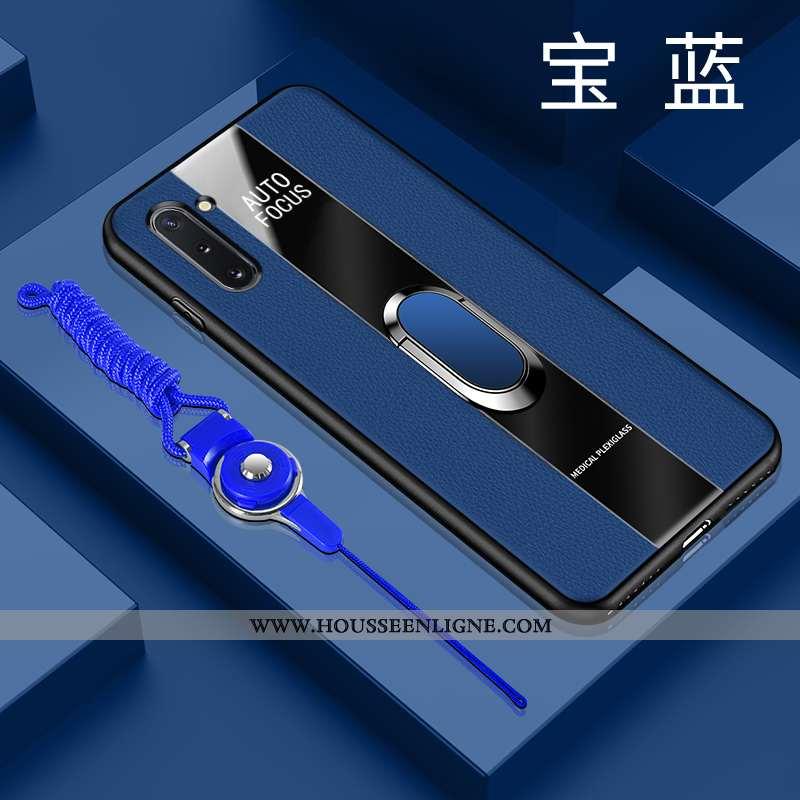 Étui Samsung Galaxy Note 10 Fluide Doux Silicone Étoile Téléphone Portable Bleu Net Rouge