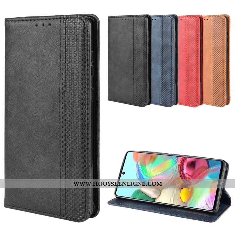 Étui Samsung Galaxy Note 10 Lite Cuir Protection Étoile Boucle Magnétique Coque Téléphone Portable N