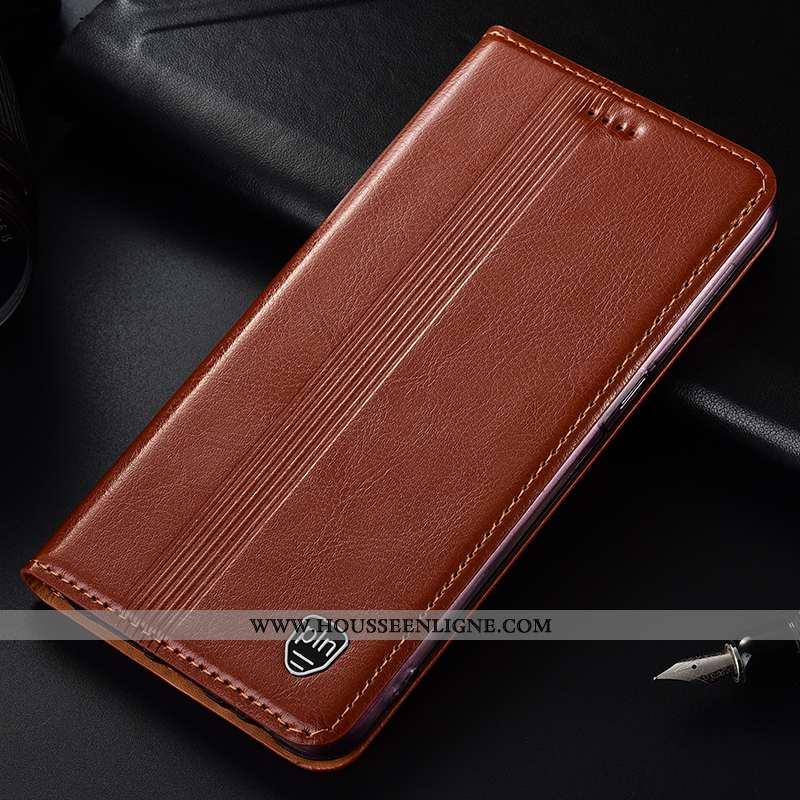 Étui Samsung Galaxy Note 10 Lite Cuir Véritable Protection Étoile Coque Housse Incassable Marron