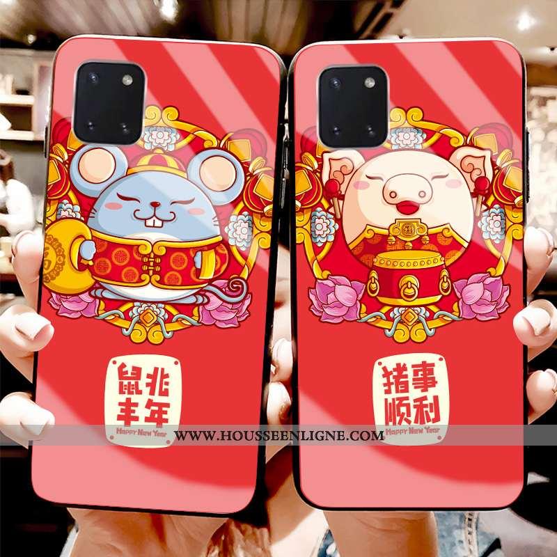 Étui Samsung Galaxy Note 10 Lite Silicone Protection Coque Téléphone Portable Jeunesse Verre Rouge