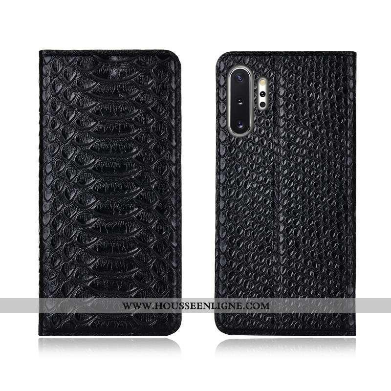 Étui Samsung Galaxy Note 10+ Protection Cuir Véritable Incassable Téléphone Portable Modèle Fleurie