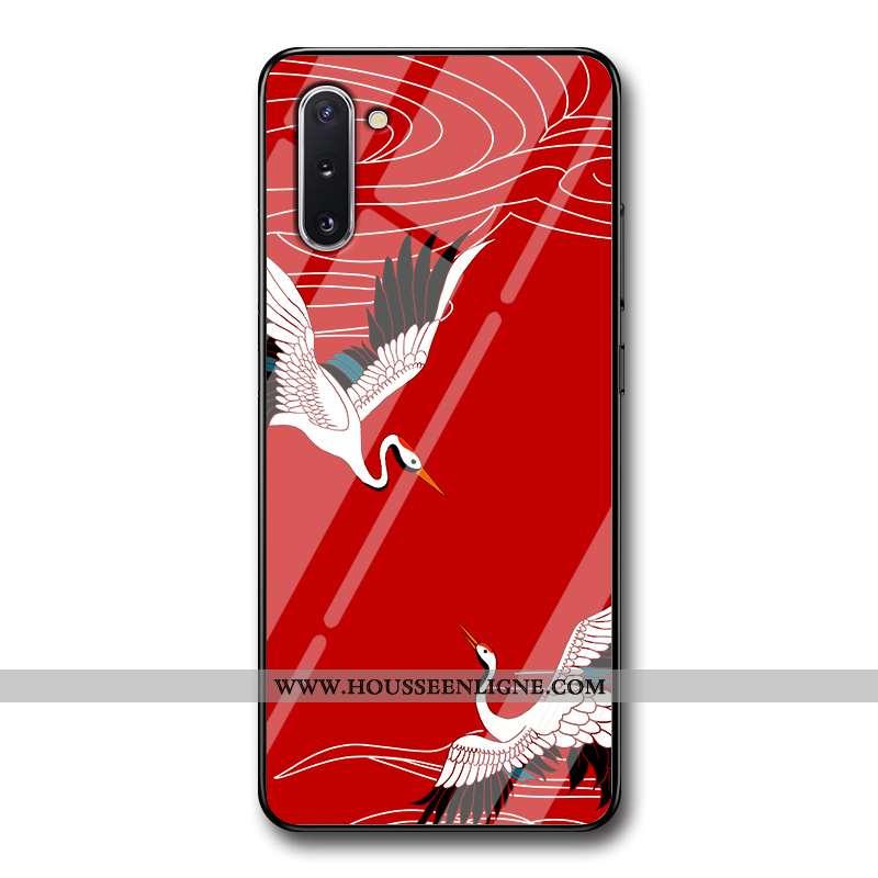 Étui Samsung Galaxy Note 10 Tendance Silicone Téléphone Portable Étoile Grue Créatif Coque Rouge