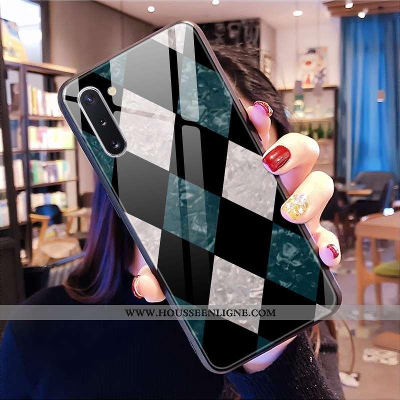 Étui Samsung Galaxy Note 10 Verre Personnalité Téléphone Portable Protection Noir Coque Étoile
