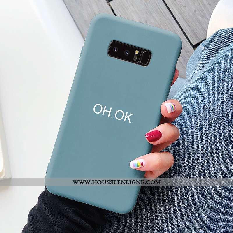Étui Samsung Galaxy Note 8 Personnalité Créatif Ultra Tendance Protection Tout Compris Coque Bleu