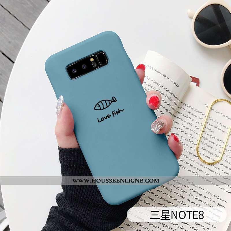 Étui Samsung Galaxy Note 8 Personnalité Créatif Vent Incassable Téléphone Portable Net Rouge Bleu