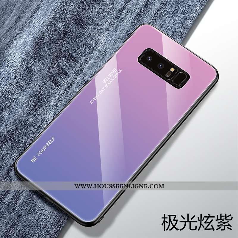 Étui Samsung Galaxy Note 8 Verre Personnalité Tout Compris Violet Étoile Téléphone Portable