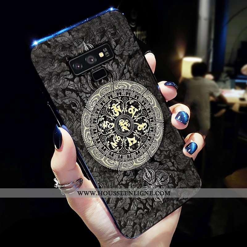 Étui Samsung Galaxy Note 9 Créatif Légère Coque Téléphone Portable Gris Noir