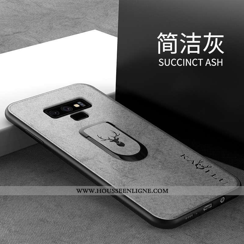 Étui Samsung Galaxy Note 9 Créatif Tendance Téléphone Portable Simple Tout Compris Silicone Gris