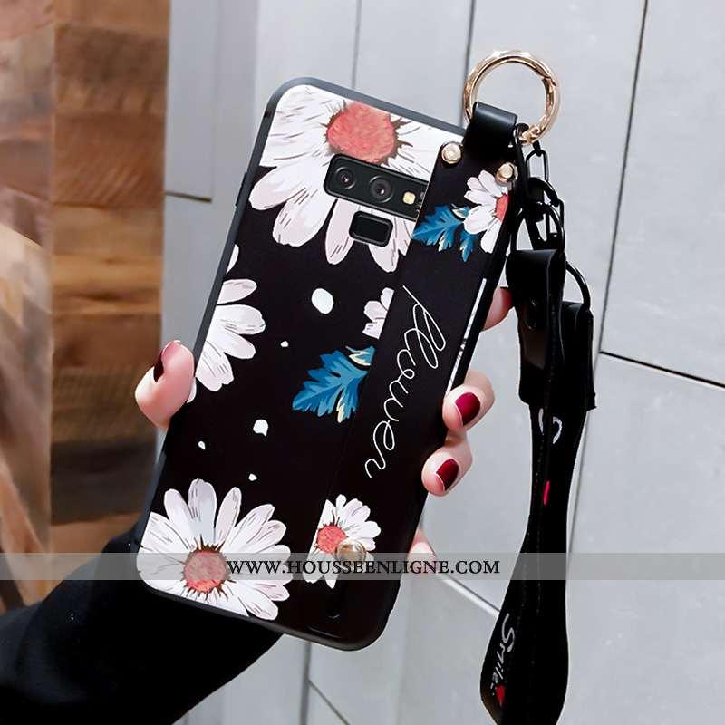 Étui Samsung Galaxy Note 9 Mode Protection Délavé En Daim Tendance Créatif Peinture Téléphone Portab