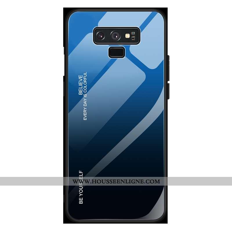 Étui Samsung Galaxy Note 9 Personnalité Créatif Téléphone Portable Silicone Protection Étoile Bleu F