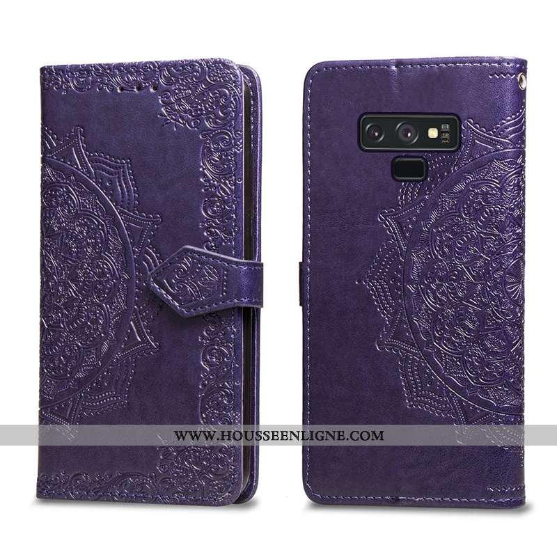 Étui Samsung Galaxy Note 9 Protection Créatif Violet Étoile Téléphone Portable Cuir