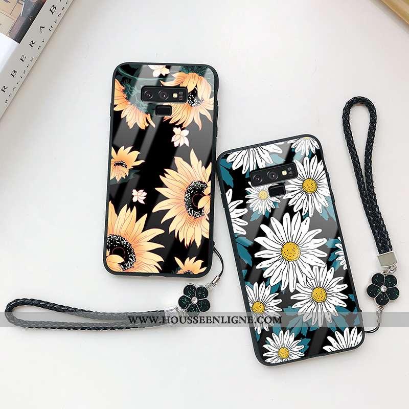 Étui Samsung Galaxy Note 9 Protection Verre Tempérer Cœur Tout Compris Téléphone Portable Noir